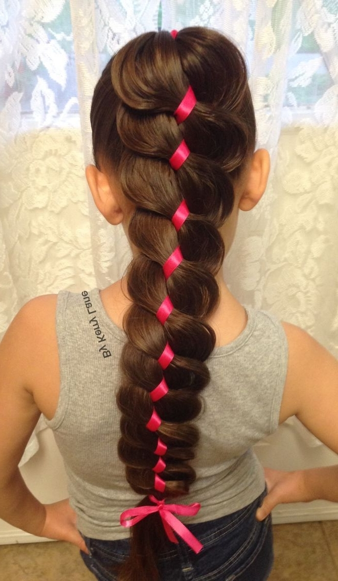 889 Best Hiukset / Hair Images On Pinterest   Hair Colors, Purple With Best And Newest Braided Ribbon Hairstyles (Gallery 14 of 15)