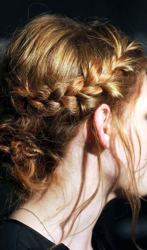 9 Braid Buns To Try This Wedding Season Intended For Most Recently Side Bun With Double Loose Braids (View 8 of 15)