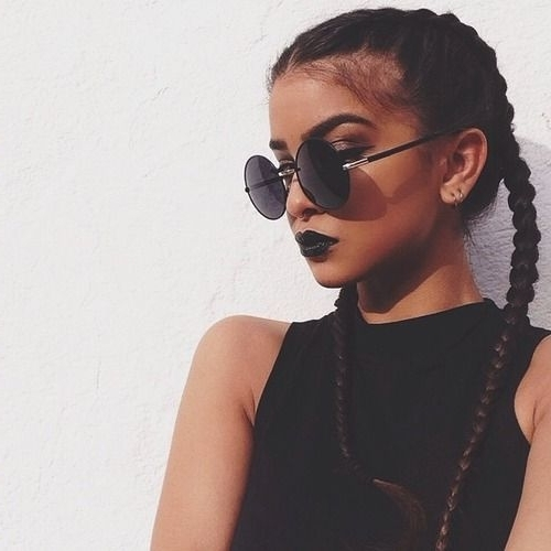 9 Gorgeous Braided Hairstyles For A Chic Look | Indian Makeup And Within Most Popular Two French Braid Hairstyles With Flower (View 15 of 15)