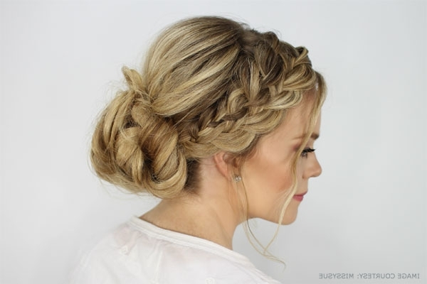 9 Gorgeous Waterfall Braid Updo Hairstyle You Can Makeyourself Throughout Latest French Braid Updo Hairstyles (View 11 of 15)