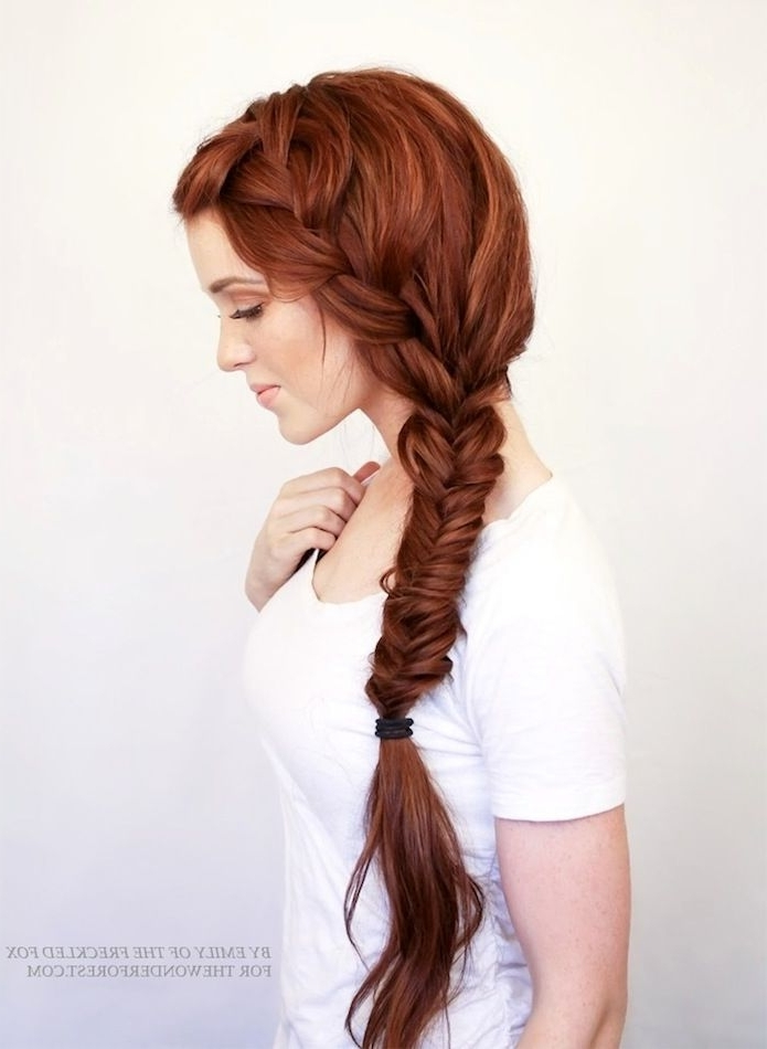9 Inspiring Redheads Long Thick Side Braid Red Hair Inspiration Intended For Current Braided Hairstyles For Red Hair (View 11 of 15)
