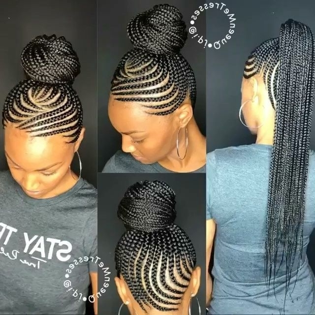 9Bdd51F60C972Bb381Fda4C5Fac0A30C (640×640) | Hair | Pinterest With Regard To 2018 Two Toned Fulani Braids In A Top Bun (View 11 of 15)