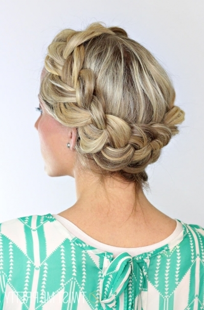 A Fat Halo Braid – Twist Me Pretty Throughout Most Recent Thick Halo Braid Hairstyles (View 3 of 15)