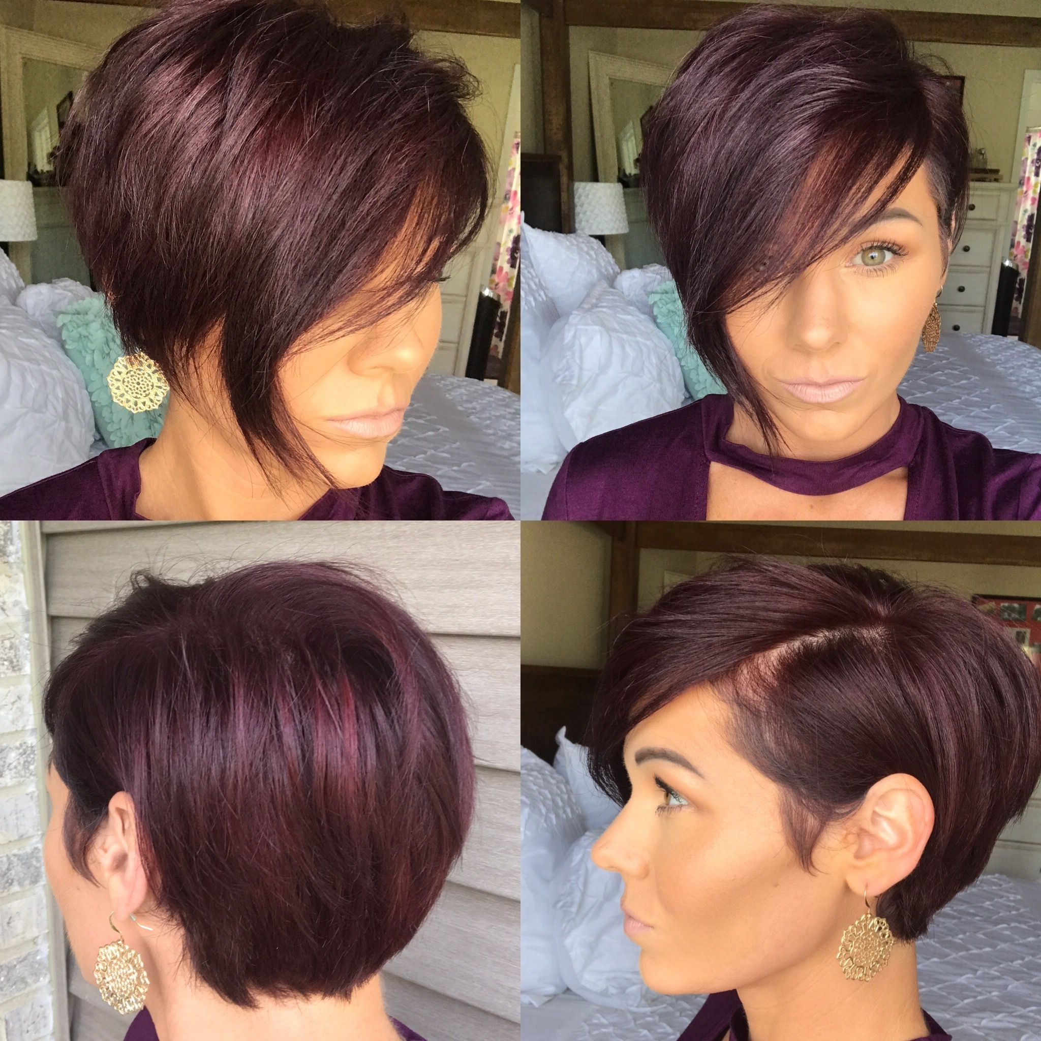 Adorable Asymmetrical Hairstyle | Do The 'do | Pinterest Pertaining To Current Choppy Asymmetrical Black Pixie Haircuts (Gallery 1 of 15)