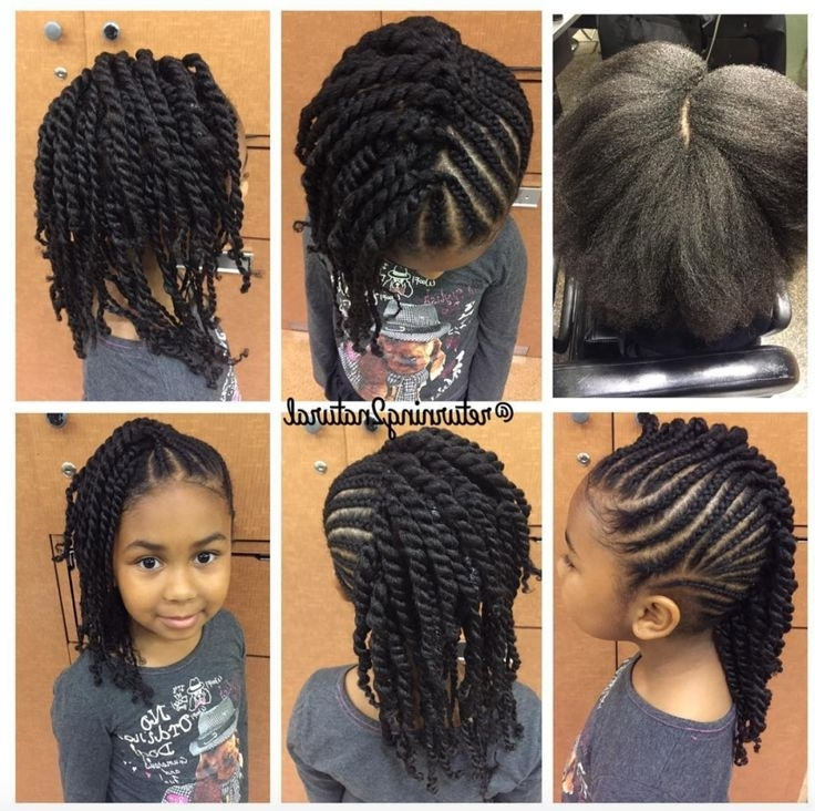 Adorable! Via @returning2Natural – Http://community In Latest Cornrow Hairstyles For Little Girl (Gallery 7 of 15)