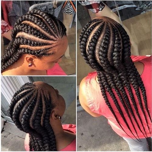 African American Cornrow Hairstyles 12   African American Cornrow With Most Popular Cornrows Hairstyles With Afro (Gallery 2 of 15)