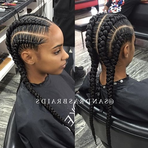 African American Cornrow Hairstyles 9 | African American Cornrow Intended For Best And Newest Thick Cornrows Hairstyles (Gallery 3 of 15)