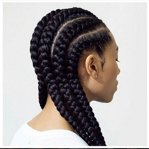 African American Cornrow Hairstyles | African American Hairstyles Pertaining To Newest Cornrows Hairstyles With Afro (Gallery 15 of 15)