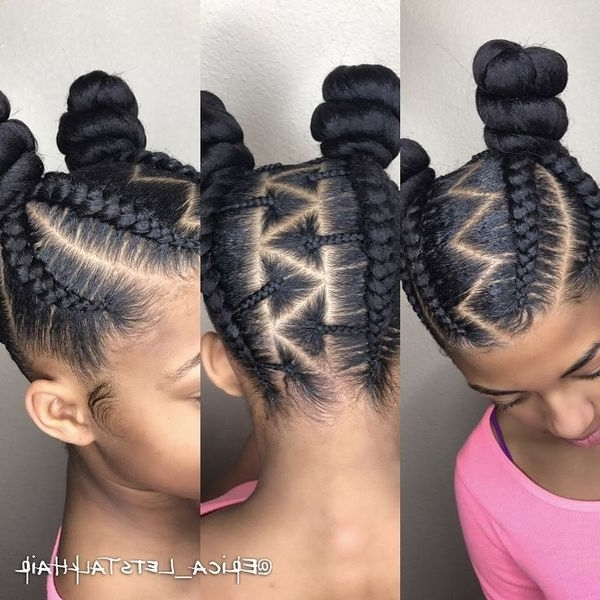 African American Cornrows, Best Cornrow Hairstyles For Black Hair Inside Current Cornrows Hairstyles With Afro (Gallery 13 of 15)