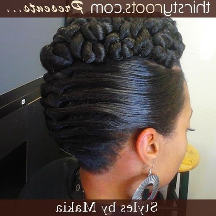 African American French Roll Hairstyle | Other Images In This Regarding Most Popular Spirals Rolled Braided Updo (View 2 of 15)