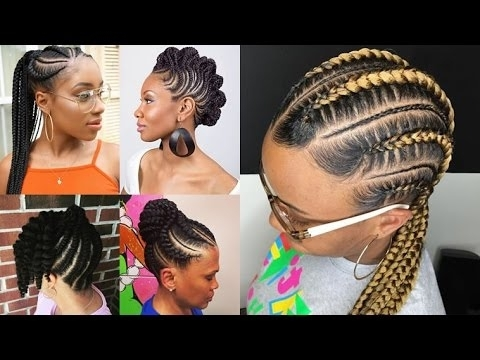 African American Women Braided Hairstyles 2017 – 2018 Black Hair Inside Most Current Cornrows African American Hairstyles (View 7 of 15)