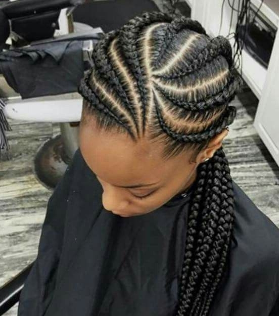 African Big Cornrows Hairstyles (An Quick How To Guide) With Most Popular Big Cornrows Hairstyles (View 5 of 15)