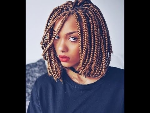 African Bob Braids Hairstyles : Lovely Collection For Ladies – Youtube Pertaining To Most Current Bob Braided Hairstyles (View 11 of 15)