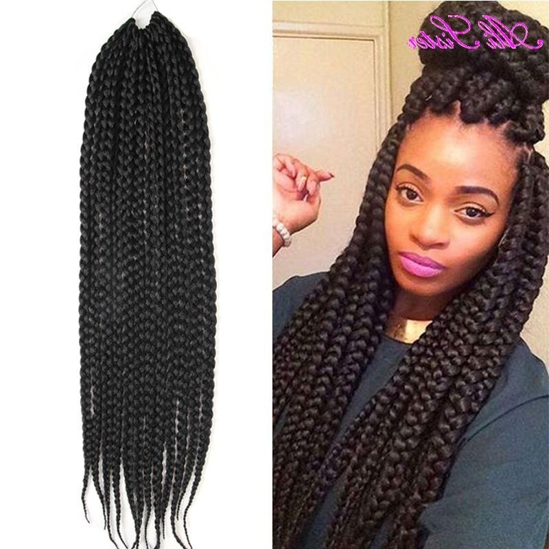 African Box Braids Hair Crochet Hair Expression Braiding Synthetic Regarding Current Braided Hairstyles With Crochet (View 2 of 15)