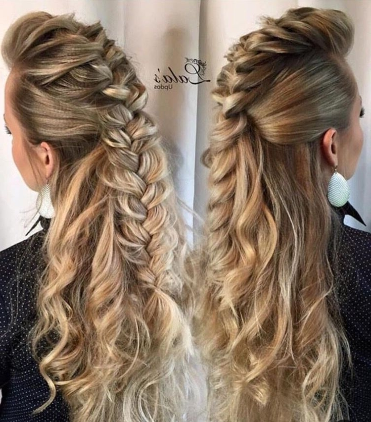 Ahh It's Like A Mohawk French Braid! | French Braid Styles Within Most Current Mohawk French Braid Hairstyles (Gallery 1 of 15)
