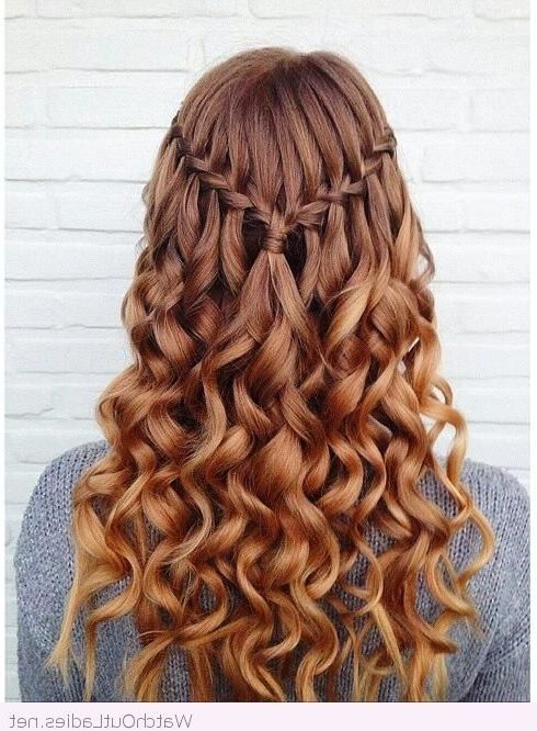 Amazing Waterfall Braid … | Belleza | Pinte… For Best And Newest Braided Graduation Hairstyles (View 3 of 15)