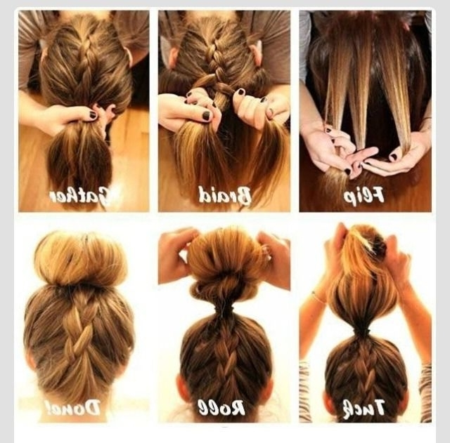 Amazing Way To Show Off Two Different Hair Styles In One. Updo Within Best And Newest Two French Braid Hairstyles With A Sock Bun (Gallery 11 of 15)