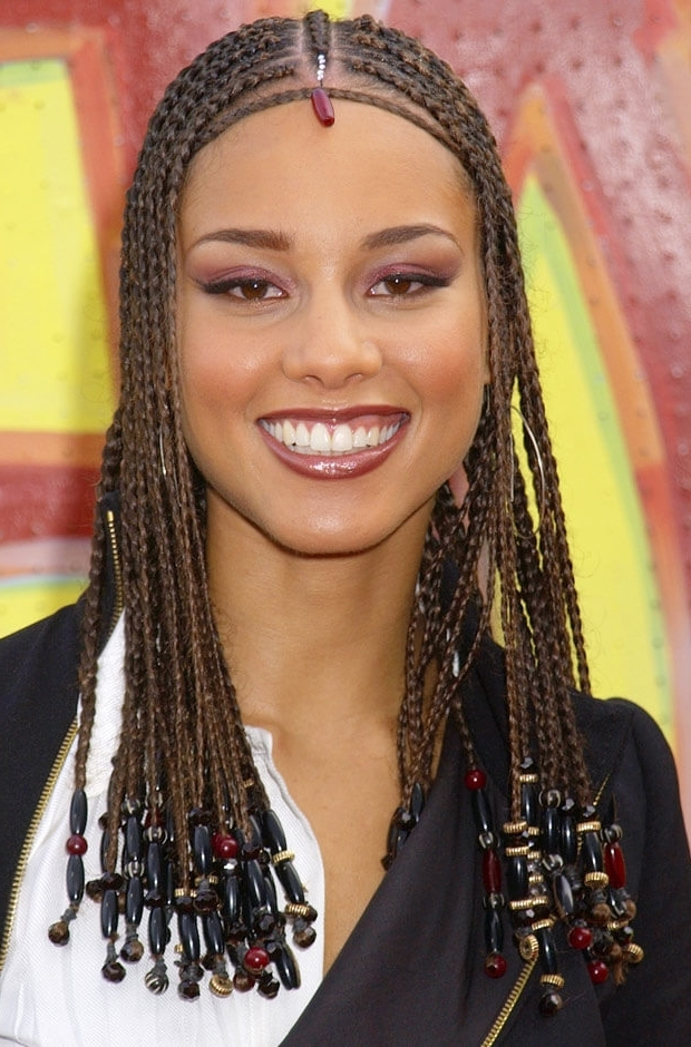 Are You Feeling This Trendy Cornrow Braids With Beads Style Or Nah? Inside Latest Cornrows Hairstyles With Beads (View 13 of 15)