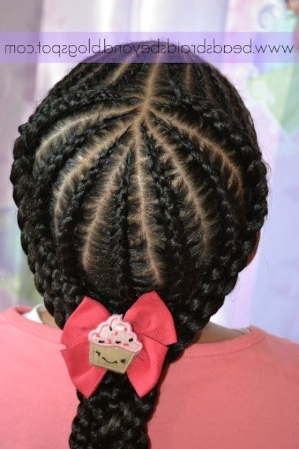 Art Beads, Braids And Beyond: Were Back – In Style! Small Cornrows Inside Most Popular Cornrows With Artistic Beaded Twisted Bun (View 10 of 15)
