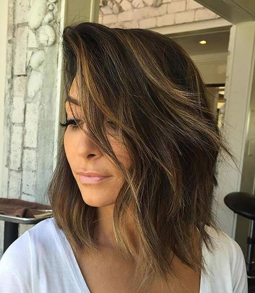 Asymmetrical Short Haircuts With Balayage Highlights 2018 – 2019 With Newest Feathered Pixie Haircuts With Balayage Highlights (Gallery 10 of 15)
