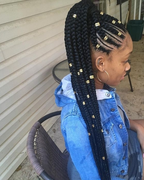 Awesome 30 Cornrow Hairstyles For Different Occasions – Get Your Regarding Most Recently Cornrows Hairstyles With Weave (Gallery 1 of 15)