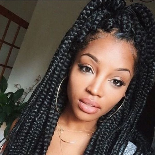 Awesome 55 Cool Single Braids Ideas – Trendy Hairstyles For Young Within Newest Singles Braided Hairstyles (View 2 of 15)