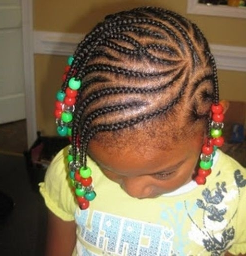 Awesome Braided Hairstyles For Black Girls With Beads | Hair Pertaining To Best And Newest Braided Hairstyles For Little Black Girls (View 13 of 15)