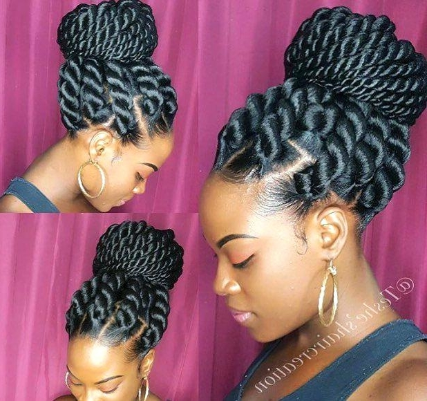Awesome Jumbo Braid Hairstyles Or Three Colored Sombre Artificial With Best And Newest Jumbo Braided Hairstyles (View 9 of 15)