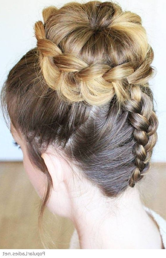 Back Braid With A High Bun | Braids | Pinterest | High Bun, Hair With Most Recently Braided Hairstyles For Dance (View 2 of 15)