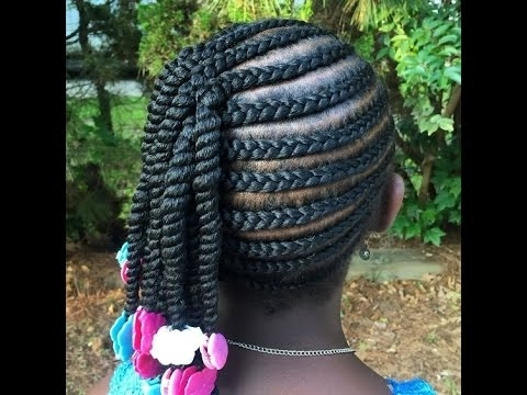Back To School Braided Hairstyles : Cool Braids For School Kids Inside Newest Cornrows Hairstyles For School (View 15 of 15)