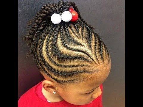 Back To School Cornrow Hairstyles : Cornrow Styles For School – Youtube Intended For Current Cornrows Hairstyles To The Back (View 13 of 15)