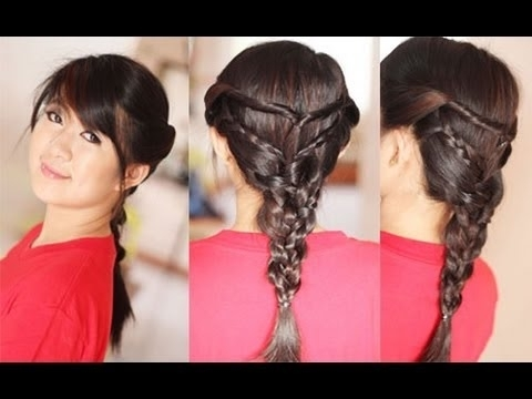 Back To School Hairstyle Twists Triple Braided Hairstyles For Regarding Most Current Braided Layered Hairstyles (View 1 of 15)