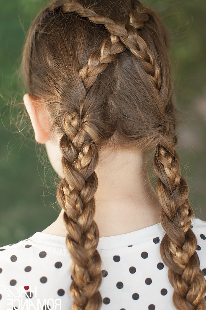 Back To School Hairstyles – Criss Cross Braids Tutorial – Hair Romance Within Most Recent Braided Hairstyles For School (View 14 of 15)
