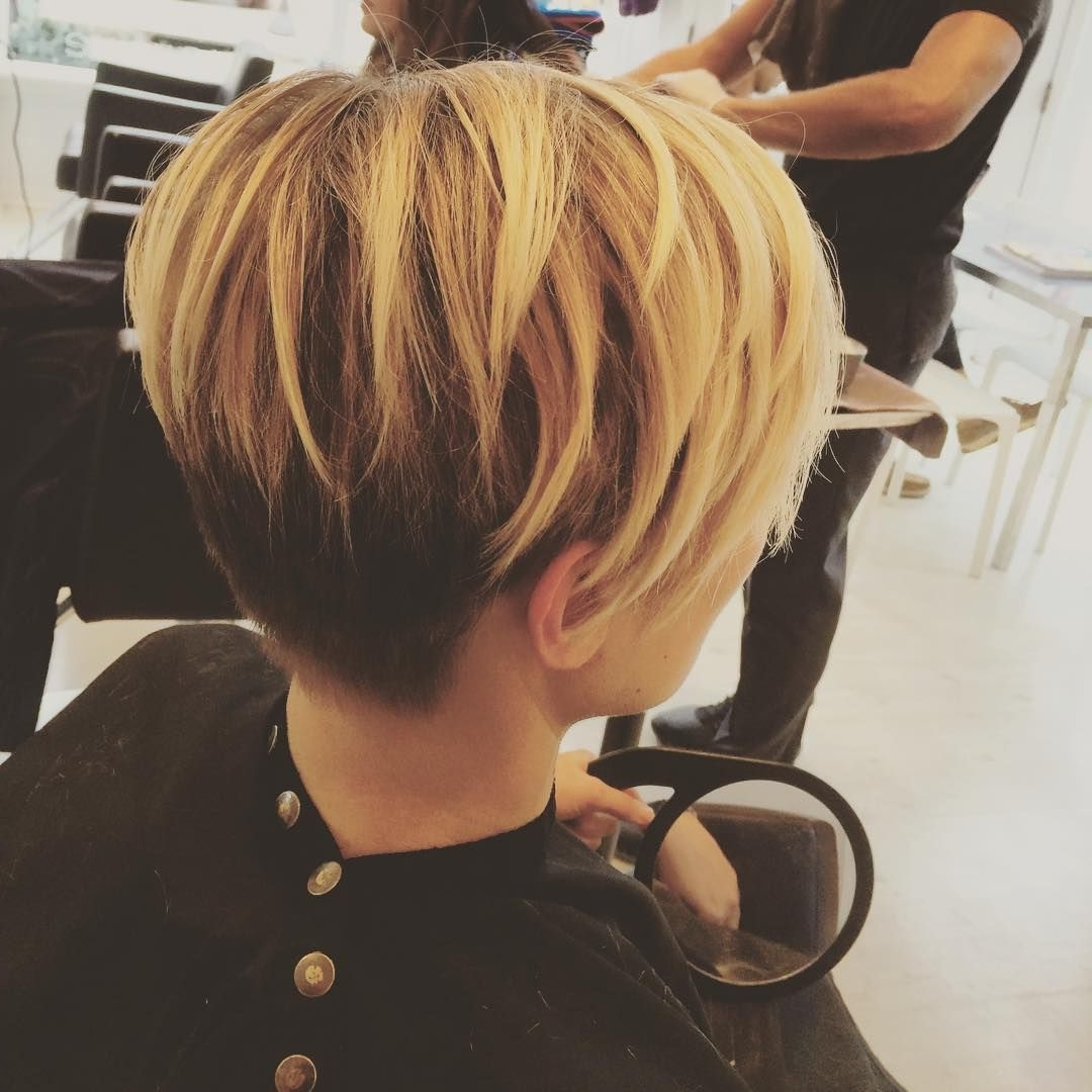 Balance Pixie Long Honey Blonde & Black Pixie   Beauty   Pinterest Throughout Most Popular Long Honey Blonde And Black Pixie Haircuts (View 6 of 15)