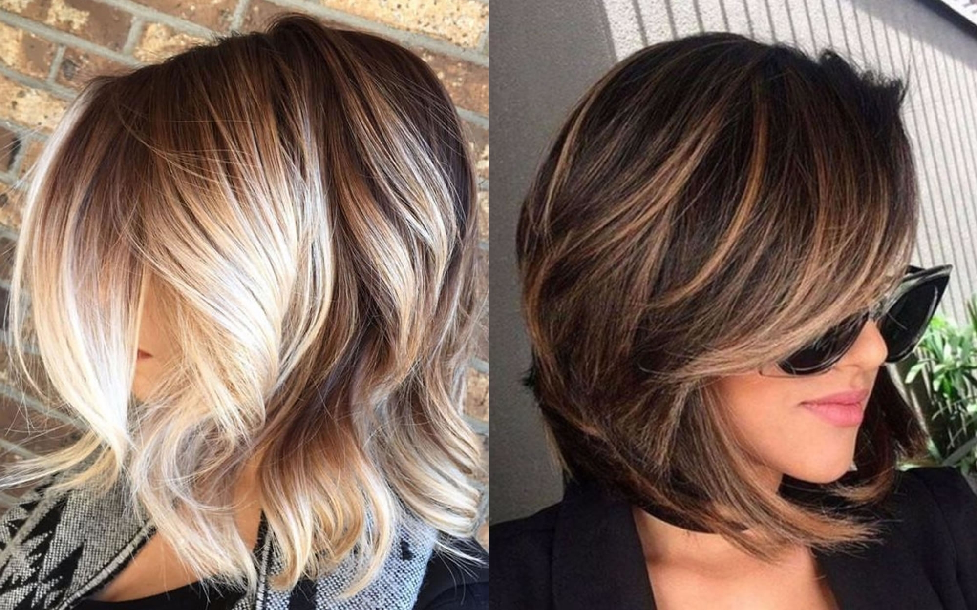 Balayage Short + Long Bob Highlights – Hairstyles & Hair Colors For Intended For Current Balayage Pixie Haircuts With Tiered Layers (View 3 of 15)