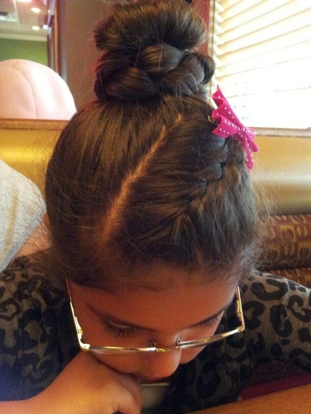 Bamg Braid With Hair In A Partial Ponytail/bun Type Then Braides With Regard To Best And Newest Pair Of Braids With Wrapped Ponytail (View 9 of 15)