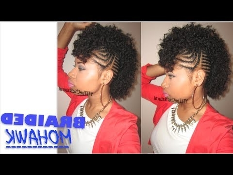 Bawse Braided Mohawk | Natural Hair Tutorial – Youtube Regarding Best And Newest Black Braided Mohawk (View 15 of 15)