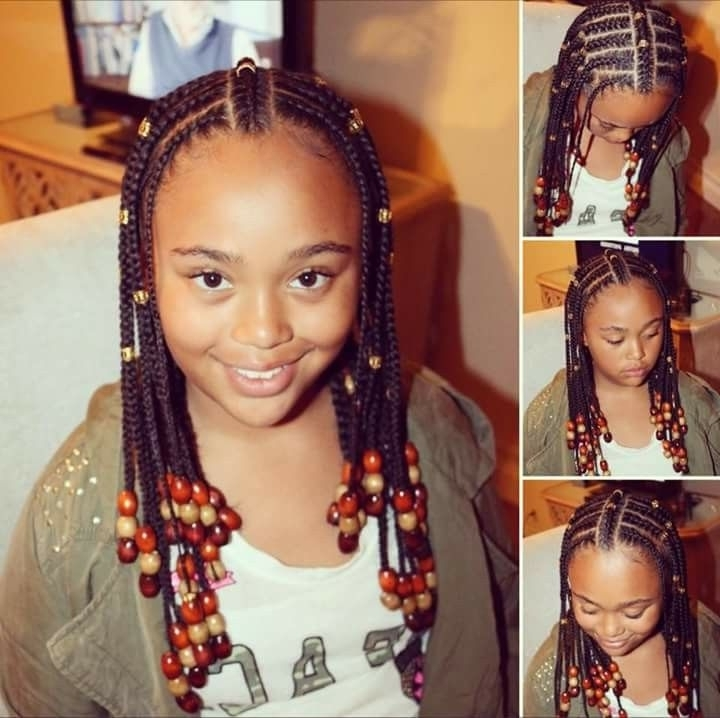 Beads, Braids & Beyond | Kids Hair | Pinterest | Beads, Kid With Regard To Latest Classic Fulani Braids With Massive Ivory Beads (View 7 of 15)