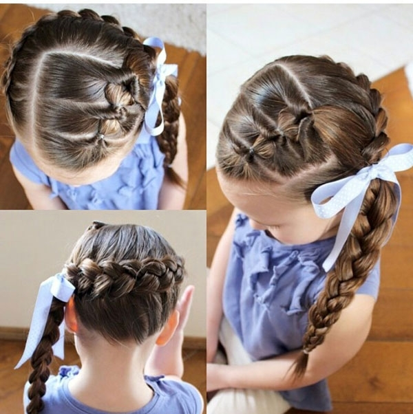 Beautiful Braiding Hairstyles For Little Girls Archives – Blog For Best And Newest Braid Hairstyles With Rubber Bands (View 14 of 15)