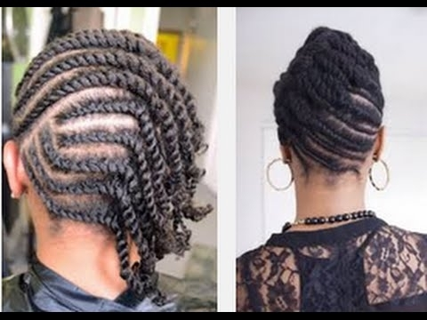 Beautiful Easy Flat Twists Hairstyle On Natural Hair – Youtube Regarding Latest Cornrows Twist Hairstyles (View 3 of 15)