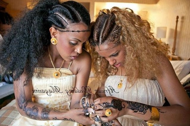 Beautiful Ethiopian Hair Braiding Styles Pertaining To Best And Newest Ethiopian Cornrows Hairstyles (View 6 of 15)