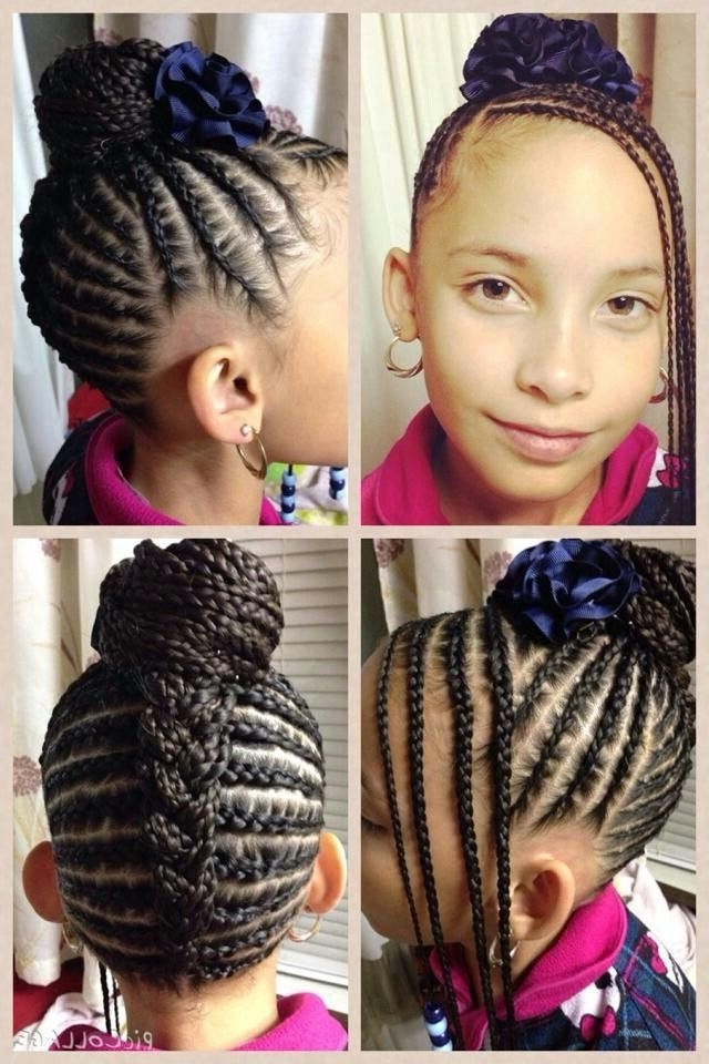 Beautiful! #naturalhair #naturalhairkids #cornrows   Cornrows Intended For Newest Cornrows Hairstyles For Toddlers (View 10 of 15)