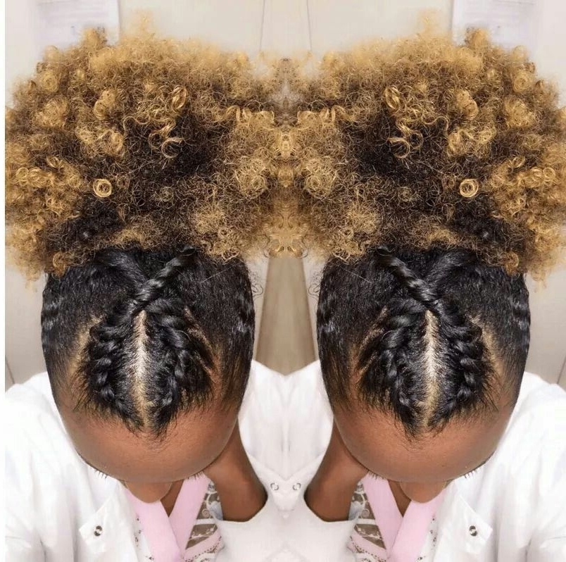 Featured Photo of Crossed Twists And Afro Puff Pony