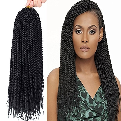 "Befunny 8Packs 18"" Senegalese Twist Crochet Hair Braids Small Havana Within 2018 Braided Hairstyles With Crochet (View 6 of 15)"