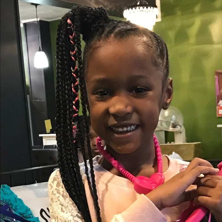 Best 14 African American Toddler Ponytail Hairstyles | Hairstyles With Most Current Side Ponytail Braids With A Twist (View 13 of 15)