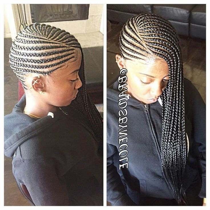 Best 25 Black Braided Hairstyles Ideas On Pinterest Black Hair Throughout 2018 Black Braided Hairstyles (View 10 of 15)