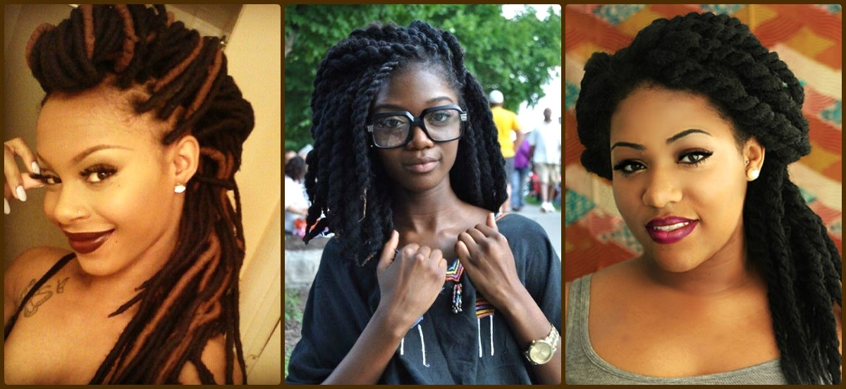Best African Braids Styles For Black Women | Hairstyles 2017, Hair In Most Up To Date Braided Cornrows Loc Hairstyles For Women (View 7 of 15)