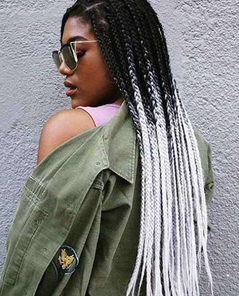 Best Box Braids Hairstyles For Black Women | African American Intended For 2018 Cornrows Hairstyles With White Color (View 8 of 15)