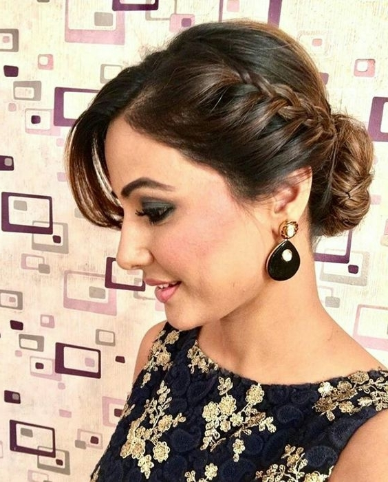 Best Braid Hairstyles For Sarees Intended For Latest Braided Hairstyles On Saree (View 4 of 15)