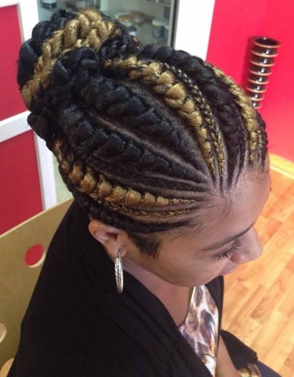 Best Cornrow Hairstyles – 30+ Cornrow Hairstyles Ideas To Charm Your Regarding Recent Big Updo Cornrows Hairstyles (View 4 of 15)